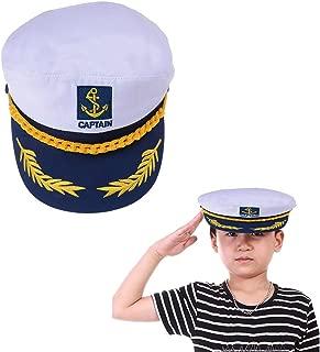 Welecom Sailor Captain Hat Embroidery Boat Ship Sailor Hats Adjustable Navy Hat Children