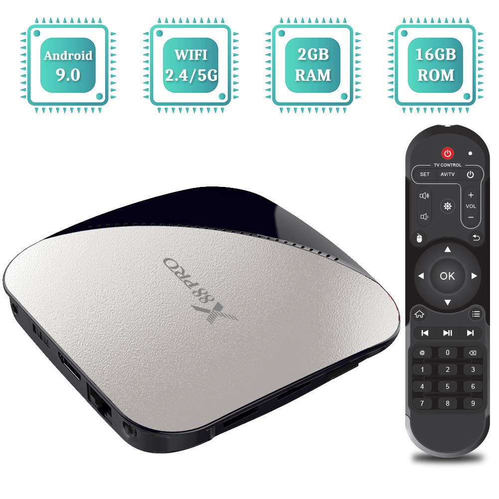 TV Box Android 9.0, TUREWELL Android Box RK3328 Quad-Core 64bit 2GB RAM 16GB ROM Support BT 4.2/Dual WiFi 2.4GHz/5GHz/3D/4K/H.265 Smart TV Box: Amazon.es: Electrónica
