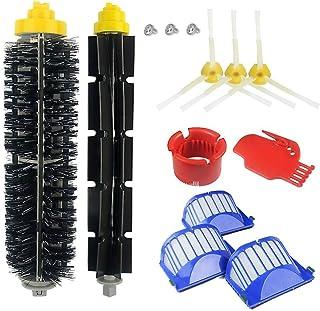AplusTech Pack Kit Repuestos y Accesorios Filtro y Cepillo Lateral para Aspiradora iRobot Roomba Serie 600 : 605 610 616 620 625 630 631 632 639 650 651 660 670 680 681 691 -Pack de 13PCS