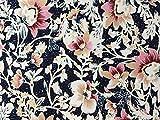 Herz Stoffe Österreich 1m Viskose Jersey Blüten Blumen