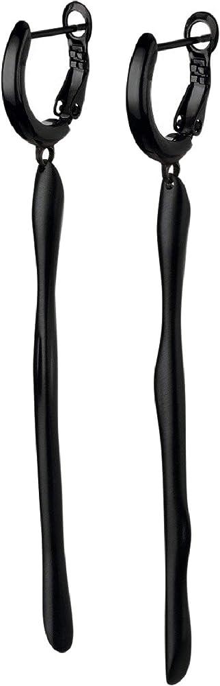 Breil orecchini donna collezione b witch sono in acciaio lucido TJ2757