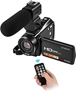 Andoer HDV-V7 Plus 1080P Full HD 24MP Portable Digital Video Camera Camcorder Remote Control Infrared Night Vision Recorder 16X Zoom 3.0\ Rotary LCD with External Microphone