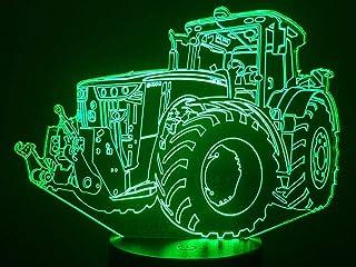 JOHN D, Lampada illusione 3D con LED - 7 colori.