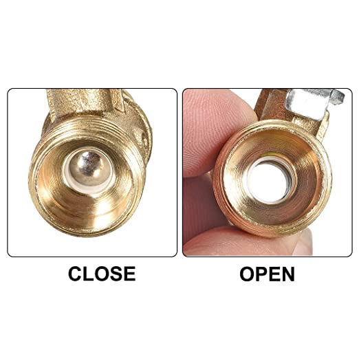 uxcell Brass Air Ball Valve Shut-Off Switch G1//2 Male to 1//2 Hose Barb Pipe Tubing Fitting Coupler 180 Degree Operation Handle 4Pcs