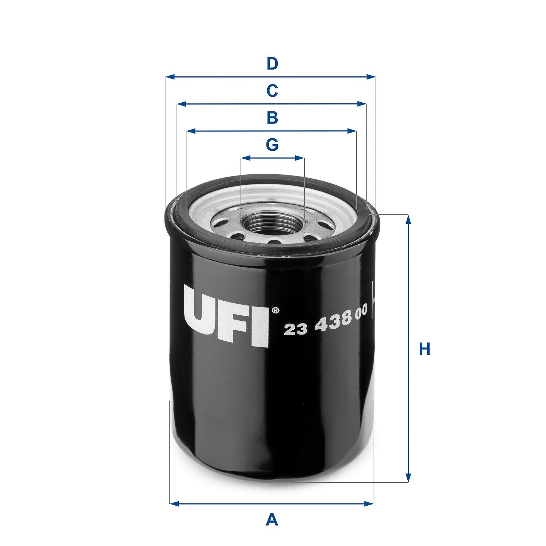 UFI Filters 23.573.00 Filtro Olio Motore Per Auto