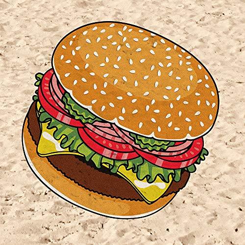 BigMouth Hamburger Asciugamano da spiaggia