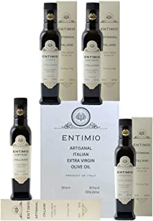Entimio Collection   Extra Virgin Olive Oil Set, New 2020 Harvest from Tuscany, Italy   4 x High in Polyphenols Italian Ol...