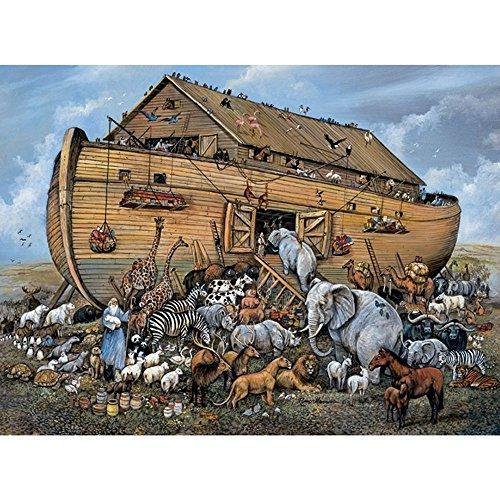 Bits and Pieces 500 Piezas de Rompecabezas de Rompecabezas para Adultos Arca DE NOE 500 Pc Barco y Animales Jigsaw por el Artista Ruane Manning