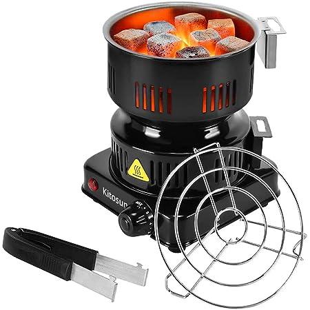 Allume Charbon Électrique Tamis à Charbon Portable avec Thermostat 5 Positions Protection Surchauffe pour la Cuisine à la Maison Camping Barbecue