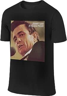 Men Designed Cool Tee Shirt Johnny Cash at Folsom Prison T-Shirt