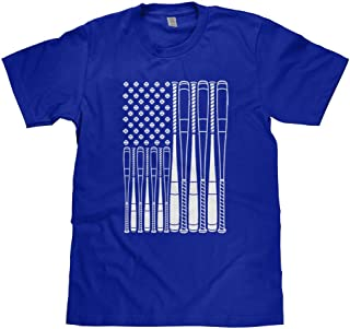 Big Boys' Baseballs and Bats American Flag Youth T-Shirt