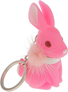 IPOTCH Keychain Pendant Charm Cute Rabbit With Hairball Decor Bag Party Gift
