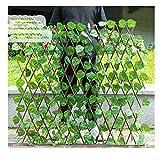 YOGANHJAT Celosía seto con Hojas, Barrera Plegable de Mimbre para el jardín, Extensible Hiedra Artificial Plantas Colgantes Valla Protección de Privacidad Jardín,B