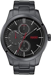 Hugo Boss Men's Black Dial Ionic Plated Black Steel Watch - 1530087