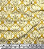 Soimoi Gold Kunstseide Stoff Nahtlose Barock Damast