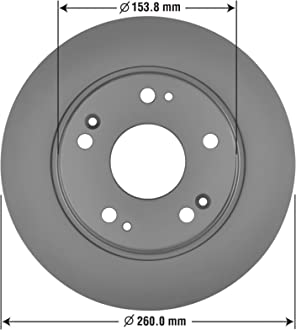 Premium AntiOx Coated Front Brake Rotor Goodyear Brakes 2144150GY