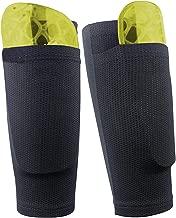 Dokpav Football Shin Guard Socks Sleeves Double Layer Mesh Breathable for Football Games Beginner Elite Athlete Running Jogging - Children Teenagers Boys Girls Men Women- No Shin Pads (Adult - Black)