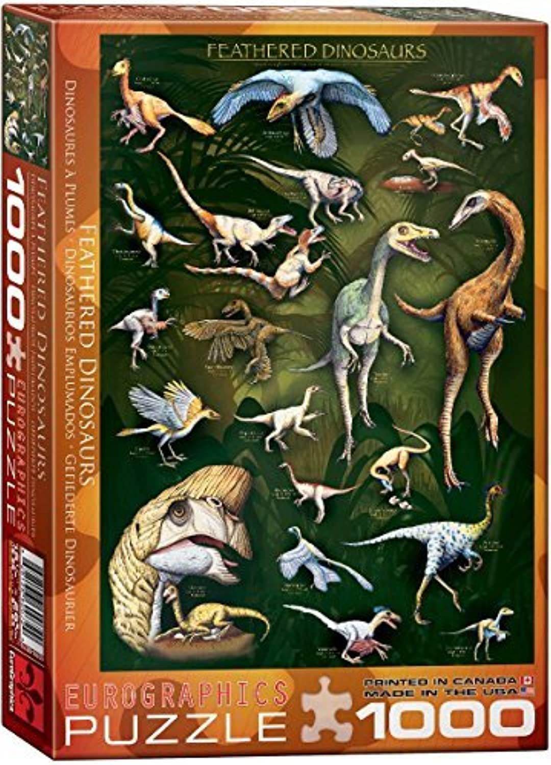 EuroGraphics Feathered Dinosaurs 1000 Piece Puzzle by EuroGraphics