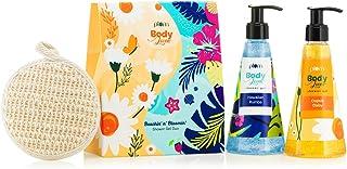 Plum BodyLovin' Beachin' n' Bloomin Shower Gel Duo Gift Set Beachy Floral Fragrances SuphateFree Loofah Inside, Multiple, ...
