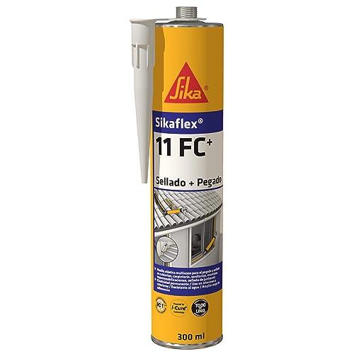 Sikaflex 11 FC+, Adhesivo multiusos y sellador de juntas elástico, Blanco, 300ml