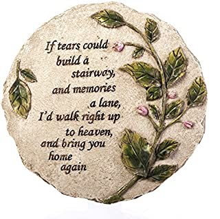 Evergreen Garden Tears to Heaven Polystone Memorial Stepping Stone - 11 W x 0.5 D x 11 H