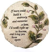 Evergreen Garden Tears to Heaven Polystone Memorial Stepping Stone - 11 W x 0.5 D x 11 H