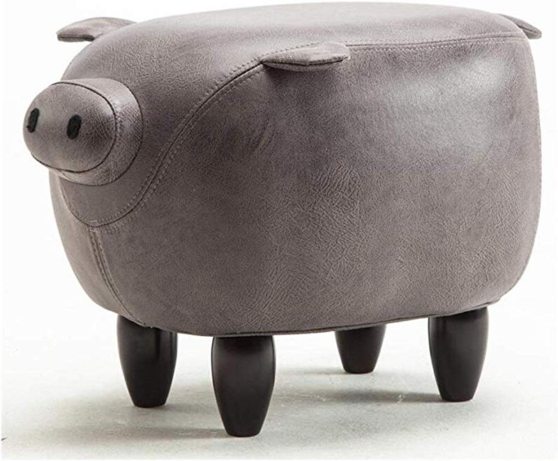 Carl Artbay Wooden Footstool Gray Creative Pig Style Change The Shoe Stool Wearing A Shoe Stool Home