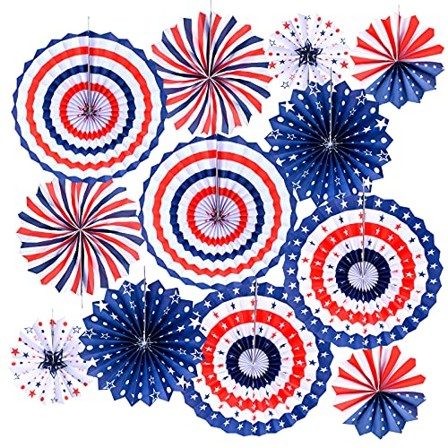 4th of July Decorations Paper Fans