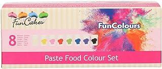 FunCakes FunColours Set de 8 Colorantes Concentrados Alimenticios en Pasta para Hornear, Decorar, Glasear, Fondant, 8 Colores, 30g, FC50260
