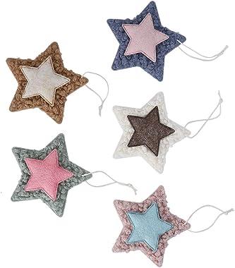 ffu Lot de 5 étoiles de Noël non tissées décoratives pour sapin de Noël