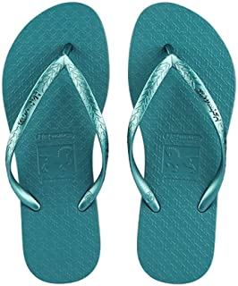 Comfortable/beautiful sandals and slippers Flip Flops Solid Color Couple Pinch Beach Shoes Casual Slippers Ladies (Color : Green)