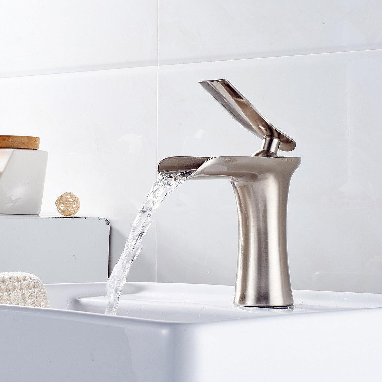 Lvsede Bad Wasserhahn Design Küchenarmatur Niederdruck Waschbecken Wasserhahn Alle Kupfer Gebürstet Bad Gebürstet Becken Wasserfall Wasserhahn Gemischt L5645