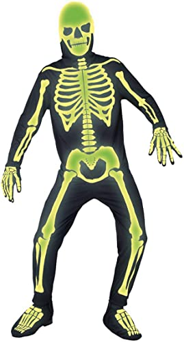 Horror-ShopÃleuchtendes Skelett Kostüm für Halloween Events M