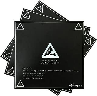 Zonyee 3D Printing Build Surface, 3D Printer Heat Bed Platform Sticker 8.42