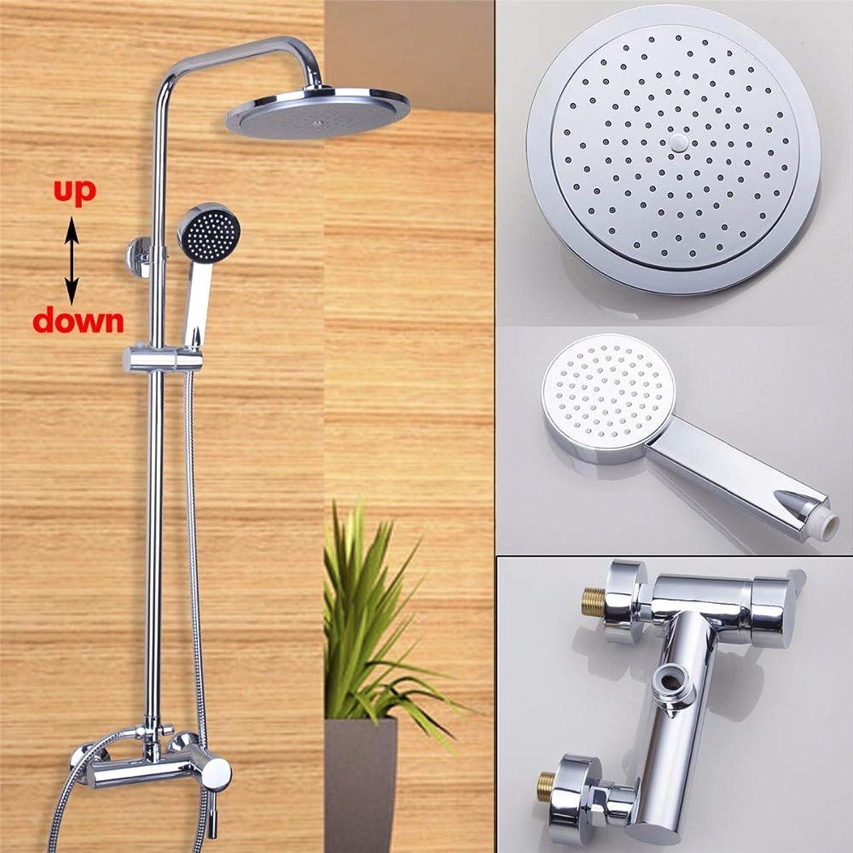 Regenduschenset für Badezimmer, Wandmontage, Luxus-Duschkopf mit quadratischem Kopf, Einhand-Kalt- und Warmwasserdusche mit Handbrause