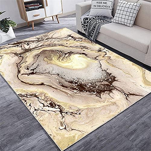 alfombras de baños Alfombra Amarilla, patrón Abstracto, Alfombra de Arrastre de Cuidado Conveniente, Alfombra Antideslizante a Prueba de Humedad alfombras Pasillo -Amarillo_180 x 280