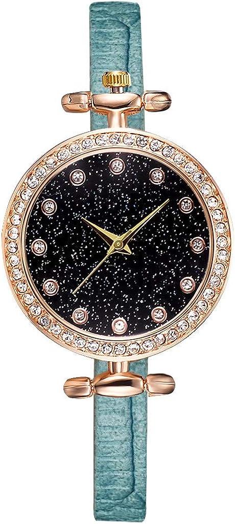 Max 76% OFF COOKI Washington Mall Women Watches Analog Quartz Starry Rhinestone L Dial Watch