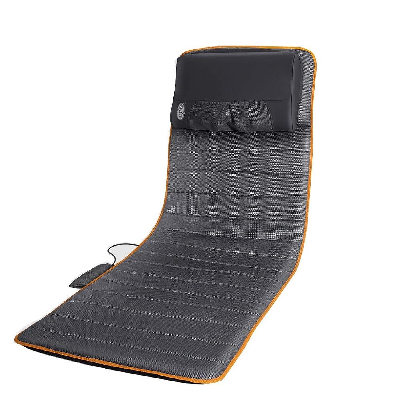 抜け目のないプレビュー櫛子宮頸マッサージャー多機能全身振動電動マットレス家庭用毛布マッサージマット+マッサージピロー+ウエストガスバッグ - 折り畳み式
