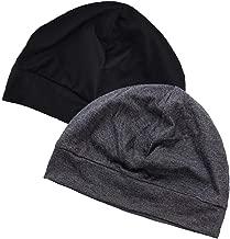 2 Stück Damen Schlafmütze Nachtmütze Nachthaube Untermütze für Haarverlust