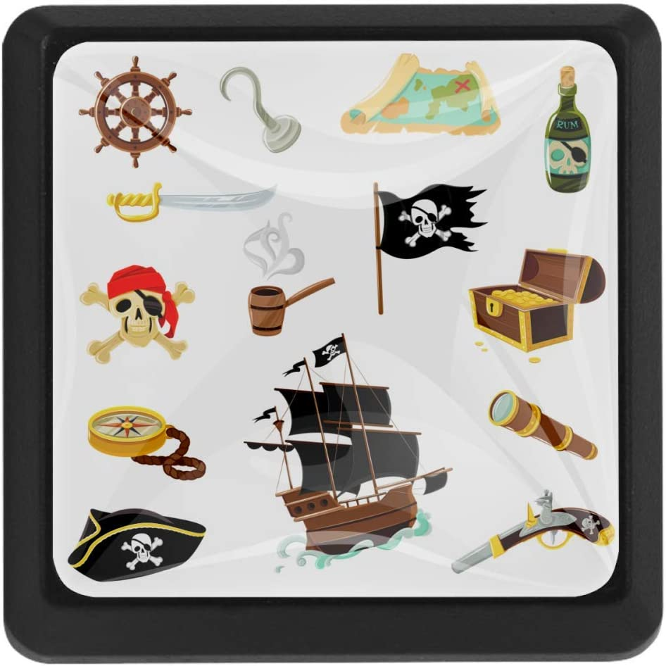 Shiiny Pirate Accessories Square Drawer Handles Ki Pulls Spring Cheap mail order sales new work one after another - Knobs