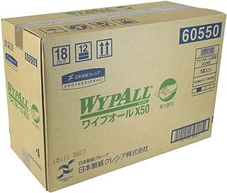 クレシア ワイプオール ×50 4つ折 60550(50枚) 18パック入