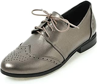 a9f0b2eb92 DoraTasia Women's Lace Up Chunky Heel Oxfords Casual Vintage Brogues Dress  Shoes Ankle Bootie