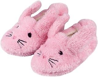 Lacofia Pantuflas Peluche de Invierno para niña o niño Zapatillas de casa de Conejo