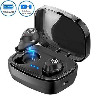 "TECHVIDA Auriculares Bluetooth, ""TWS-X10"" IPX7 Audífonos Inalámbricos Deportivos Prueba de Agua Bluetooth Auriculares Impermeables In-ear 5.0 Manos Libres con Micrófonos Duales con Carga Caja para iPhone, Samsung, Sony"