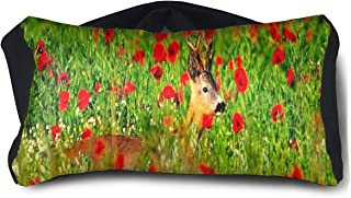 Eye Pillow Deer Flowers Beautiful Cool Mens Portable Blindfold Sleeping Eye Bag Bed