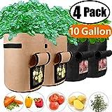 Potato Grow Bags 10 Gallon with Flap Velcro Window and Handles Garden...