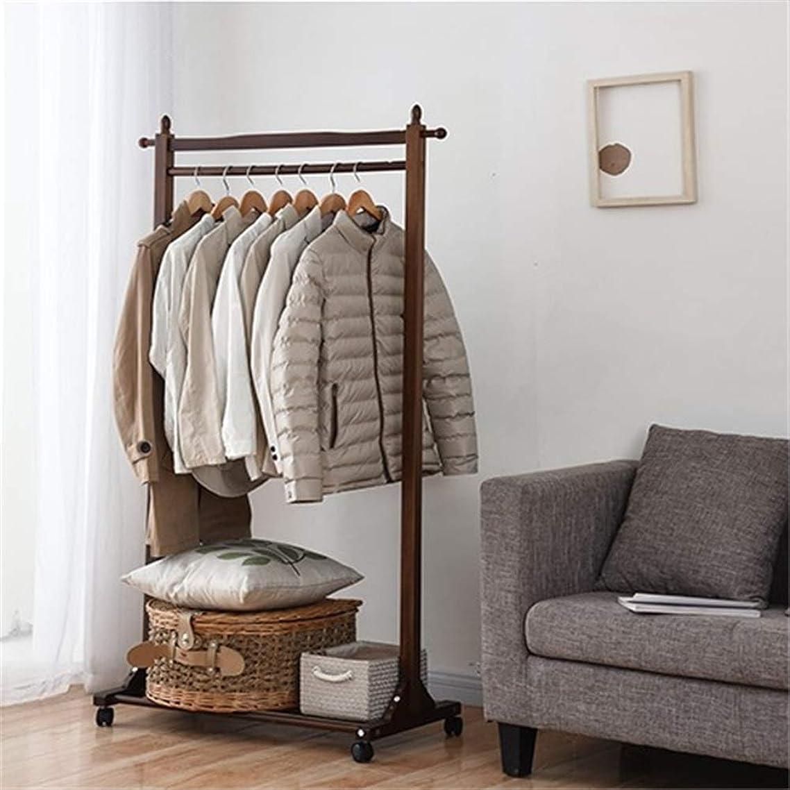 農場制裁ヘッドレスコートラック 純木の簡単なハンガーの床の家の簡単な現代寝室の棚 傘立て付きフロアキャップとコートラック (色 : 褐色, サイズ : 80x40x157cm)