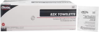 Dukal BZK Towelettes. Pack of 100 Cleansing Wipes for face, Hands, and Body. Benzalkonium Chloride Pads. Pre-moistened Wip...