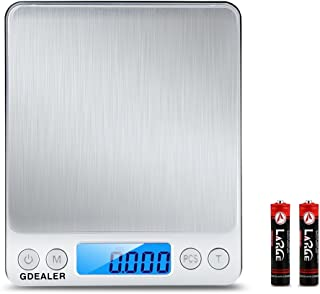 GDEALER DS1 Digital Pocket Kitchen Multifunction Food Scale for Bake Jewelry Weight,..