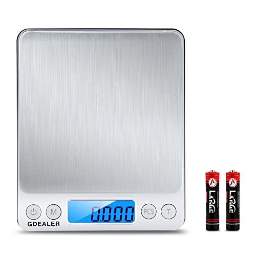 GDEALER DS1 Digital Pocket Kitchen Multifunction Food Scale for Bake Jewelry Weight, 0.001oz/